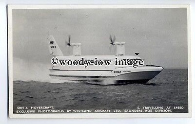 f0785 - SRN 2 Hovercraft at Speed , Isle of Wight - postcard by Nighs