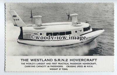 f0788 - Westland SRN 2 Hovercraft at Speed , Isle of Wight - postcard