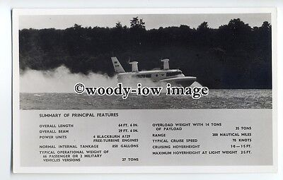 f0792 - SRN 2 Hovercraft at Speed , Isle of Wight - postcard by Nighs