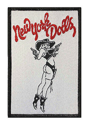 """New York Dolls"" Punk Band Rock'n Roll Lone Star Cowgirl Sew On Applique Patch"