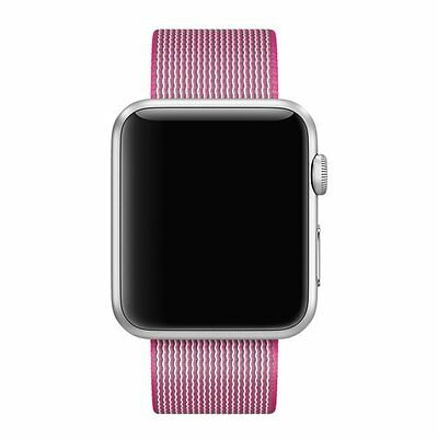 Pink Woven Nylon Wrist Band Strap Bracelet For Apple Watch iwatch  42mm