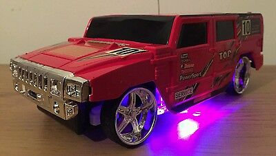 HUMMER TRUCK RADIO REMOTE CONTROL CAR  FLASHING LIGHTS Red