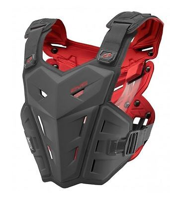 EVS F1 Chest Protector Roost Guard MX Moto Off-Road ATV BLACK Small-X-Large