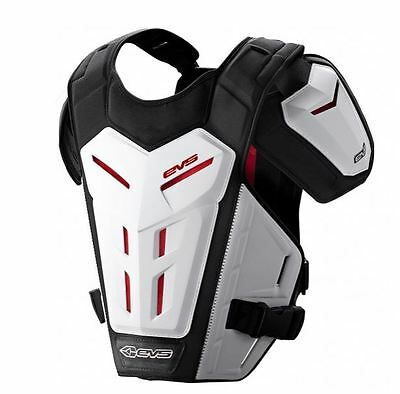 EVS RV5 Chest Protector Roost Guard MX Moto Off-Road ATV WHITE Small-X-Large