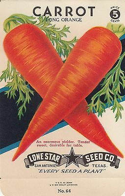Vintage  seed packets-5¢ Long Orange Carrot-----99