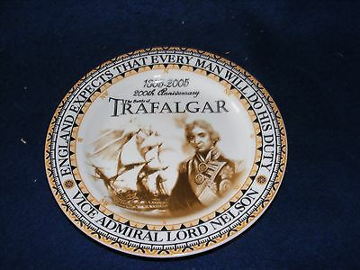 RARE COLLECTABLE NELSON TRAFALGAR 200th ANNIVERSARY PLATE OXFORD COLLECTABLES