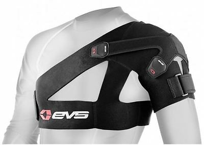 EVS SB03 Shoulder Brace Support DUAL Moto Protection BLACK Small-2X-Large SB03BK