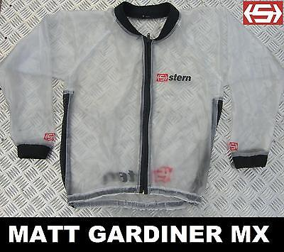STERN MUD JACKET clear WATERPROOF RAIN COAT LARGE motocross bmx mtb