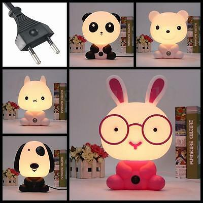 cartoon panda lapin led veilleuse table lampe nuit lumi re chambre enfant b b eur 12 47. Black Bedroom Furniture Sets. Home Design Ideas