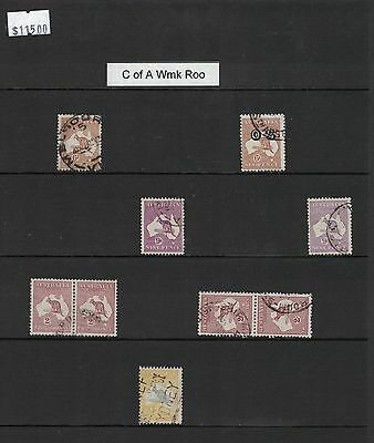 Australia Roos 9 stamps used