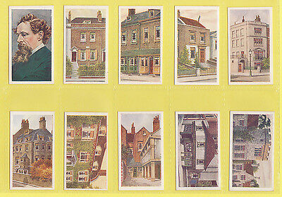 Dickens  -  R. & J. Hill  -  Set  Of  50 Places From Dickens Cards  -  1926