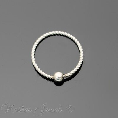 18G 10Mm Silver Surgical Steel Cbr Bcr Ear Nose Lip Septum Helix Captive Ring