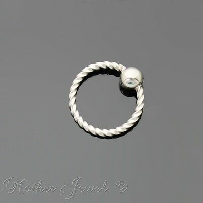 20G 6Mm Silver Surgical Steel Cbr Bcr Ear Nose Lip Septum Helix Captive Ring