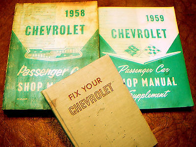 1959 59 Chevy Shop Manuals Nomad Biscayne Bel Air Impala Delray Brookwood Yeoman