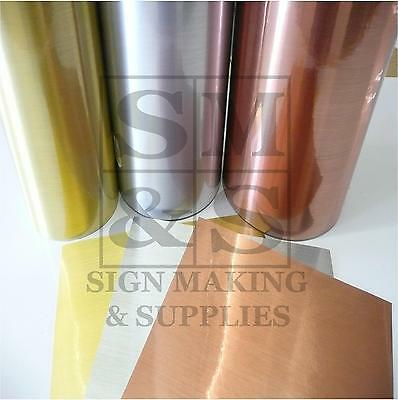 BUY 1 GET 1 FREE! A4 1m 5m Chrome Or Brushed Sticky Back Plastic Sign Making