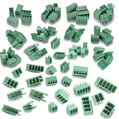 Terminal Block Connector Pitch 3.5/3.81/ 5.08mm/Screw/ Plug/ 90 Angle / Straight