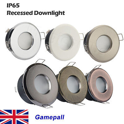 4 6 x IP65 Recessed Ceiling Mains Downlight Bathroom Shower GU10 LED Spot Light