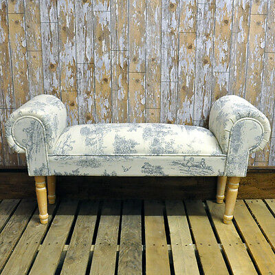 Black Cream French Design Antique Shabby Chic Window Bedroom Seat 2339