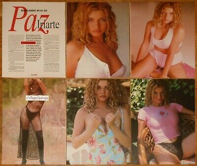 PAZ IRIARTE 11 page 1995 sexy article magazine Spain model clippings photos