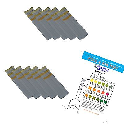 20 x Chlorine Test Strips / Pool / HotTub Tester - 3 In 1 With / pH / Alkalinity