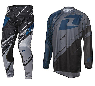 2016 ONE INDUSTRIES VAPOR LITE MOTOCROSS KIT SIDE SWIPE GREY BLACK pants jersey