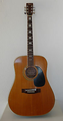 Guitare Folk Vintage Ryan F40   An 80's  Made In  Japan
