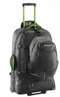 Caribee Fast Track 85L Wheeled Travel Pack with Daypack - BLACK