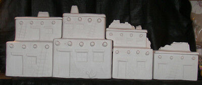 *Ceramic Bisque Jaykay Pueblo Canister Set Ready to Paint*