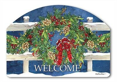 WINTER WREATH Magnetic Yard DeSign Plaque - and it's made in the USA!
