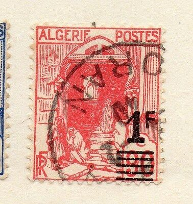 Algeria 1929-30 Early Issue Fine Used 1F. Surcharged 087316