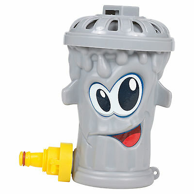 Kids Outdoor Water Grey Trash Garden Grass Lawn Sprinkler Game Toy Hose Summer