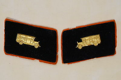 WW1 Imperial German Prussian Officers Kraftweir Drivers Collars Tabs Insignia