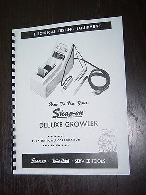 Snap On MT-326 Growler Armature Tester Manual