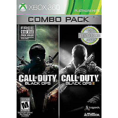 Call of Duty Black Ops 1 + 2 II COMBO XBOX 360 NEW! ALSO WORKS WITH XBOX ONE!