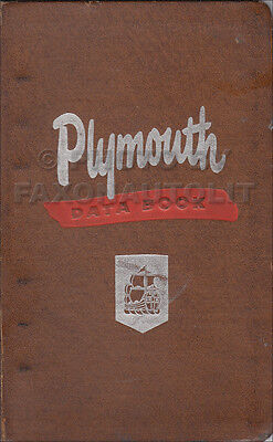 1950 Plymouth Data Book Dealer Showroom Album