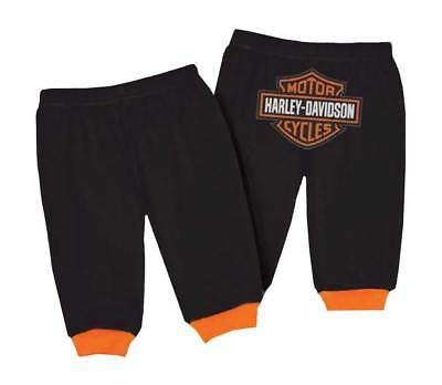 Harley-Davidson Baby Boys' Interlock Bar & Shield Logo Pants, Black 4050601