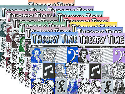 THEORY TIME Music Theory Workbook (any instrument) Complete 13 Book Bundle Pack