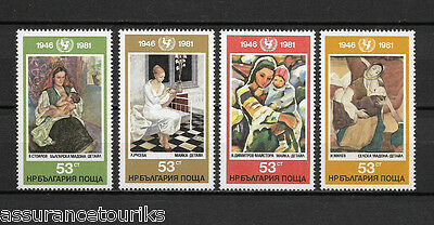 BULGARIE TABLEAUX - 1981 YT 2674 à 2677 - TIMBRES NEUFS** MNH LUXE