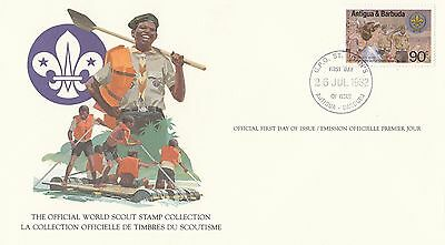 (90163) Antigua & Barbuda FDC Card Scouts - St Johns 26 July 1982