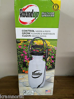 Roundup 2 Gallon Multi Use Sprayer With 3 Nozzles Brand New 190260