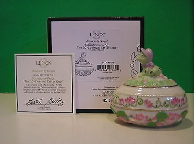 LENOX 2016 Annual EASTER EGG SPRINGTIME FROG sculpture NEW in BOX with COA