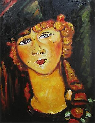 Modigliani's Renee the Blonde Repro, Quality Hand Painted Oil Painting 12x16in