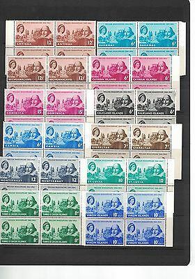 1964 Caribbean Federation, Complete set of 12 Blocks of Four, 48 Stamps MNH