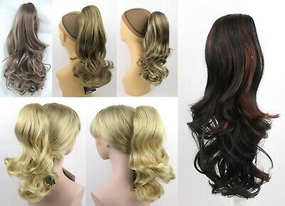 """13"""" Long Loose Layered Curls Curly Hair Ponytail Hairpiece Hairdo Claw Clip Mena"""