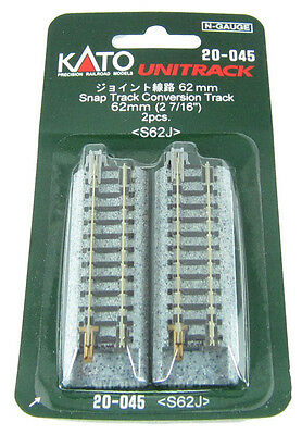"""Official New KATO N Scale : 20-045 UNITRACK 62mm (2 7/16"""") Airmail Only"""