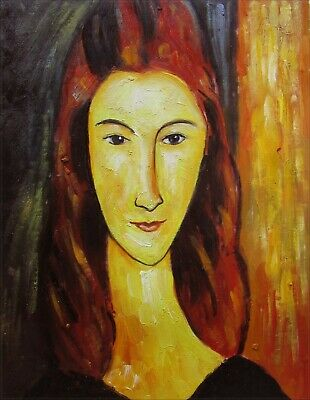Modigliani Portrait of Jeanne Repro, Quality Hand Painted Oil Painting, 12x16in