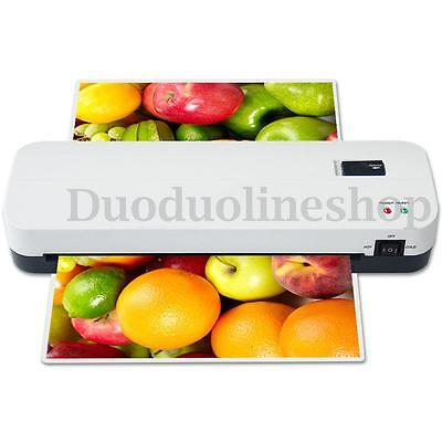 A4 Home Office Laminating Machine Laminator Hot/Cold Roller Thermal Pouch AU