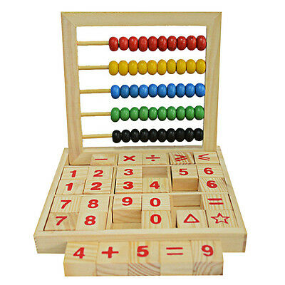 Wooden Abacus Children Kids Counting Number Maths Learning Educational Toy