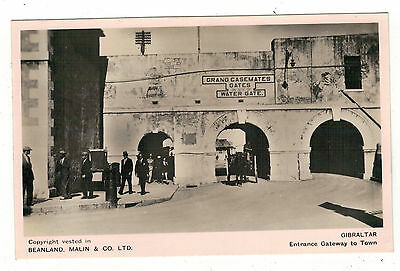 Gibraltar.gateway To Town  Old Real Photo Postcard