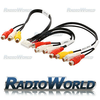 Kenwood KVT-512 KVT512 RCA Pre Out AV IN/OUT Phono Cable Lead Wiring Harness